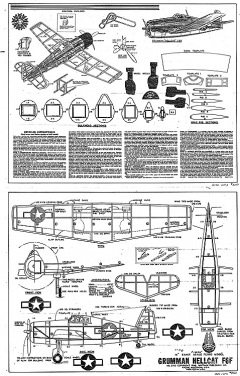 Hellcat Whitman model airplane plan
