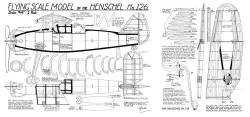 Henschel hs 126 model airplane plan