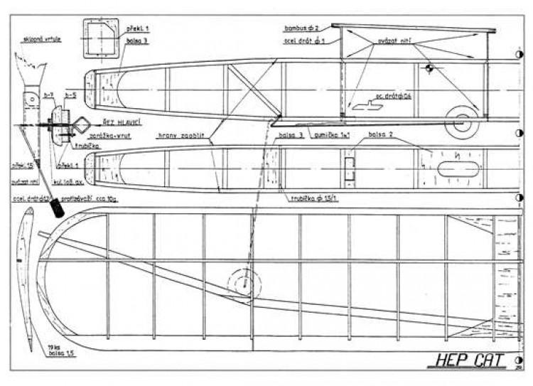 Hep Cat model airplane plan