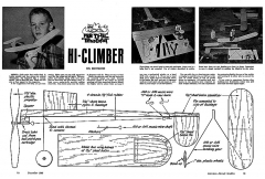 Hi Climber model airplane plan