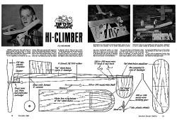 Hi Climber model airplane plan
