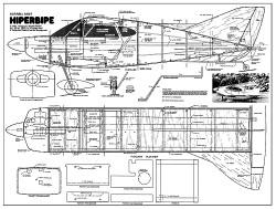 Hiperbipe 34in model airplane plan