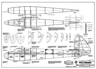 Hirth Minimoa model airplane plan