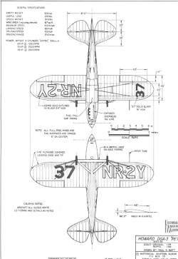 Howard DGA-3 Pete model airplane plan