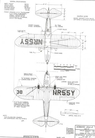 Howard DGA-4 model airplane plan