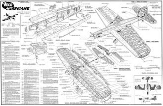 Hurricane Veco model airplane plan