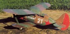 I-153 Cajka model airplane plan