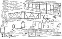 Intimidator model airplane plan