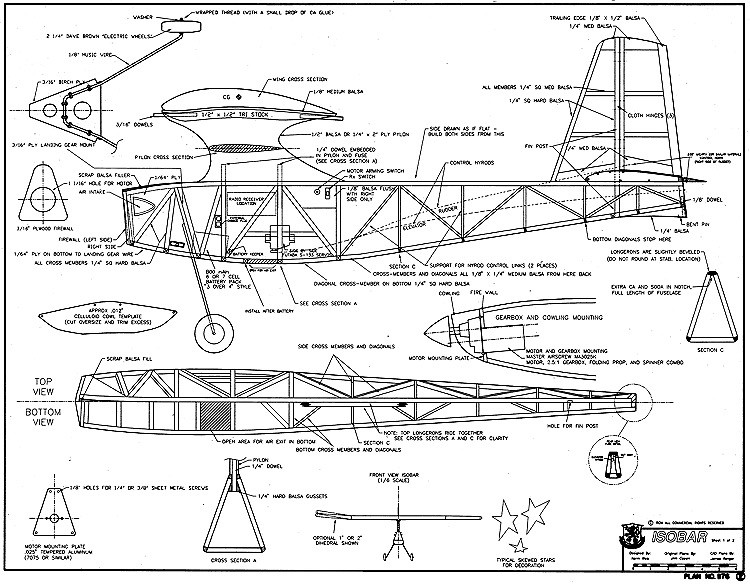 Isobar model airplane plan
