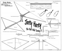Jerky Herky ornithopter model airplane plan