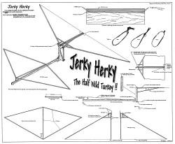 Jerky Herky ornithopter model airplane plan