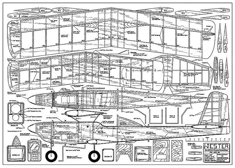 Jester AM model airplane plan