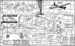 Jr Falcon original model airplane plan