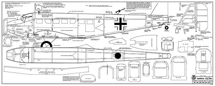 Junkers 52 RCM-479 model airplane plan