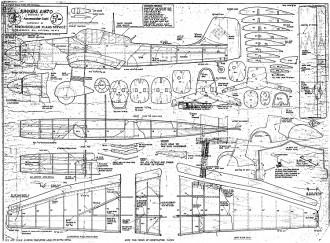 Junkers JU87D Stuka model airplane plan