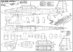 Junkers JU 87 model airplane plan