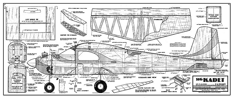 Kadet Sr model airplane plan
