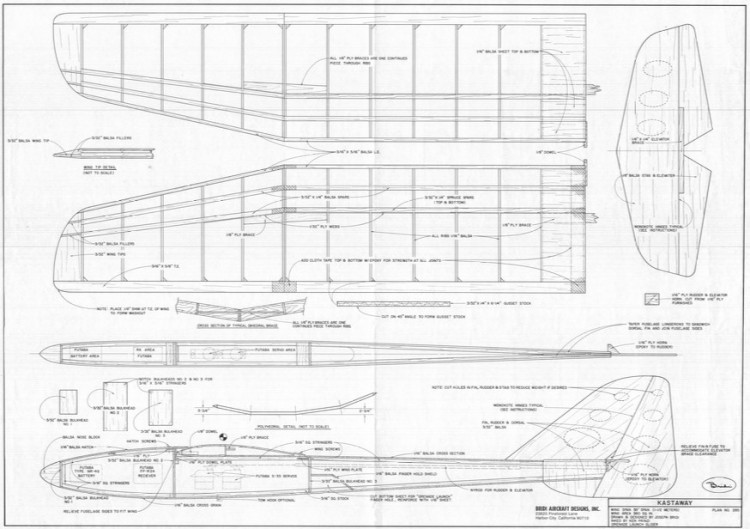 Kastaway model airplane plan