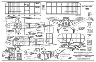 Kawanishi K-12 peanut model airplane plan