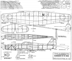 Kawasaki Ki-61 Hein model airplane plan