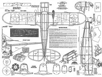 Kinner Envoy 24in Paul Jones model airplane plan