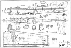 Komet 1 model airplane plan