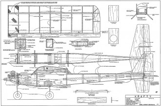 Krafty RC 52in model airplane plan