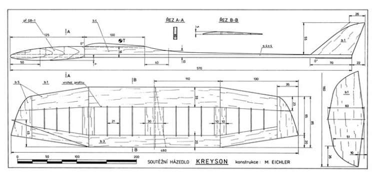 Kreyson model airplane plan