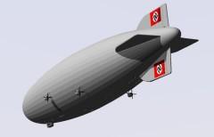 LZ 129 Hindenburg model airplane plan