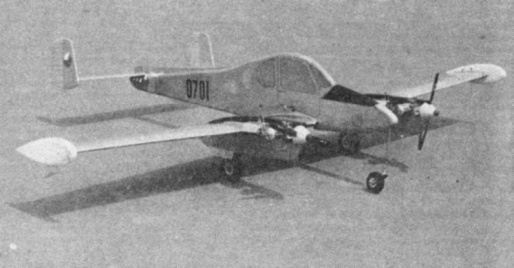 L 200D Morava model airplane plan