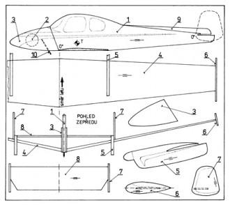 L 200 Morava model airplane plan