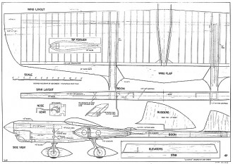 La Donna CL model airplane plan