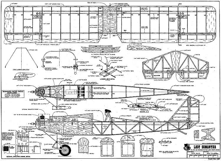 Lady Samantha RCM-1287 model airplane plan