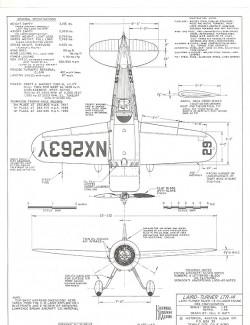 Laird-Turner LDR-14 model airplane plan