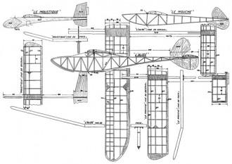Le Moustique model airplane plan