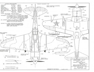Lavochkin -LA-7 model airplane plan