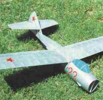 Lavockin La-13 model airplane plan