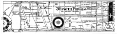Sopwith Pup model airplane plan