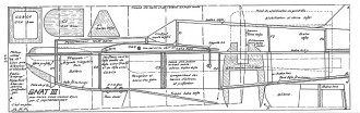 GNAT III model airplane plan