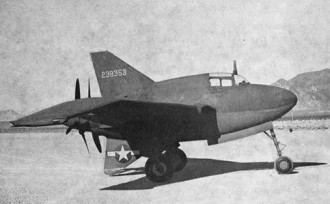 Northrop XP-56-1 model airplane plan