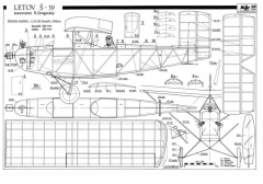 Letov S39 model airplane plan