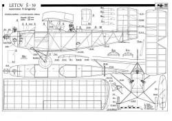 Letov S39 model airplane plan