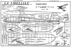 Libellule MRA model airplane plan