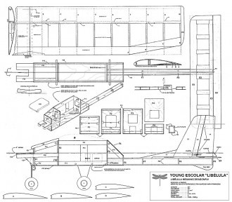 Libelula model airplane plan