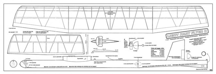Light Hart Flyer II model airplane plan