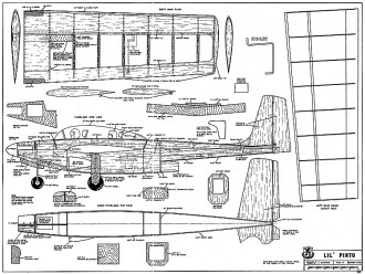 Lil Pinto RCM-364 model airplane plan