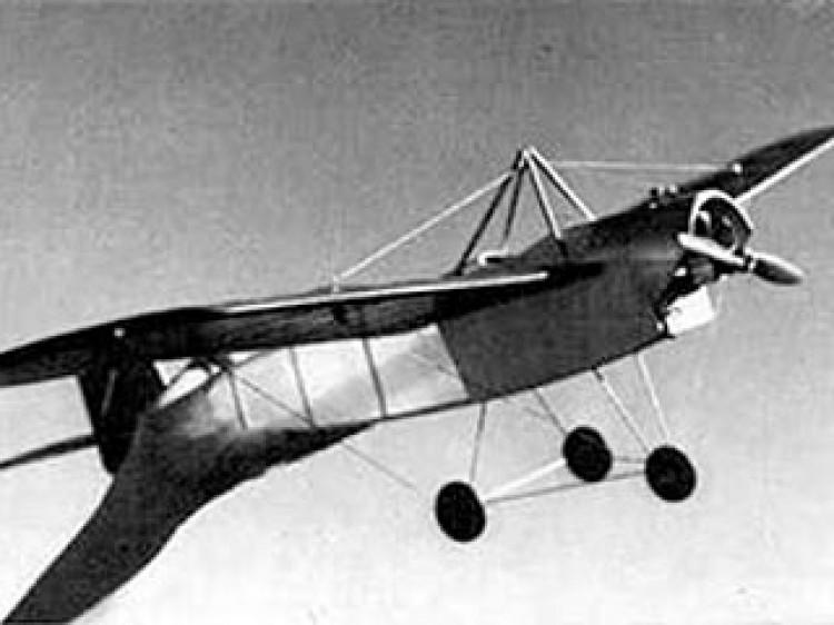 Lincoln Beachey Monoplane model airplane plan