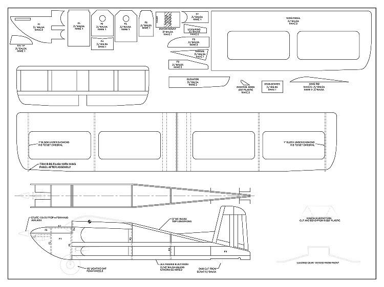 LiveWire 1S Micro model airplane plan