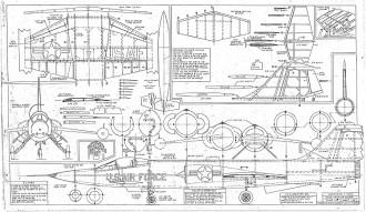Lockheed F-104G model airplane plan