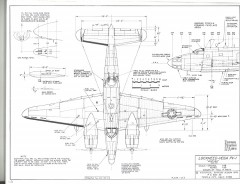 Lockheed Vega PV-1 model airplane plan